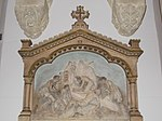 Sacred Heart Church. Station 11. Crucifixion. Jesus is nailed to the cross. - Budapest District VIII.JPG