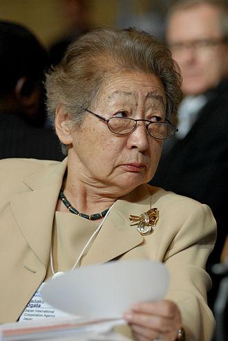Sadako Ogata - Sadako Ogata at the World Economic Forum on Africa, Cape Town, South Africa, on June 4, 2008