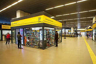 Premetro (Buenos Aires) - Interior of the Intendente Saguier terminal following refurbishment.