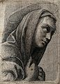 Saint Mary (the Blessed Virgin). Etching after Raphael. Wellcome V0033650.jpg