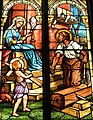 Saint Mary Catholic Church (Dayton, Ohio) - stained glass, House of Nazareth.JPG