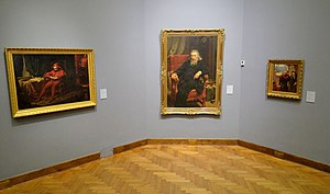 Stańczyk (painting) - Stańczyk (left) displayed in the Warsaw National Museum