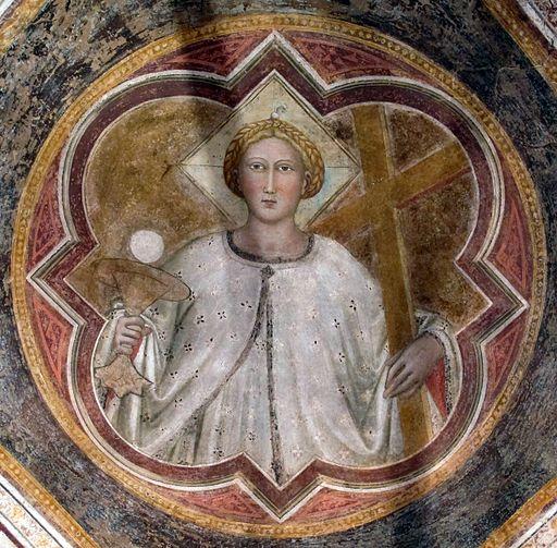 Sala capitolare di s. felicita, volta con virtù di di niccolò gerini, 1390 ca. fede