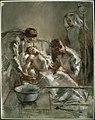 Saline Infusion- An incident in the British Red Cross Hospital, Arc-en-barrois, 1915 Art.IWMART1918.jpg