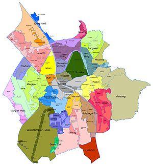 Salzburger Stadtteile