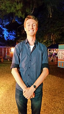 Sammy J in the Garden of Unearthly Delights at the 2018 Adelaide Fringe Festival.jpg