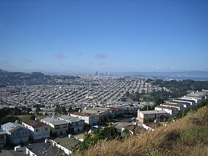 San Bruno Mountain State Park - A view of San Francisco from the park