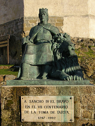 Juan Núñez I de Lara - Statue of Sancho IV of Castile, King of Castile and León. Tarifa, Cádiz.