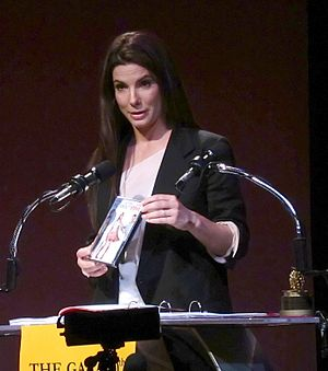 30th Golden Raspberry Awards - Sandra Bullock accepting her award