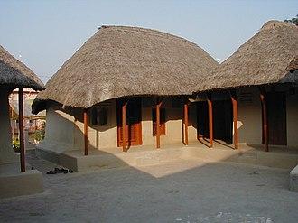 Sarada Devi - Sarada Devi's house at Jayrambati (centre) where she lived for the majority of her life