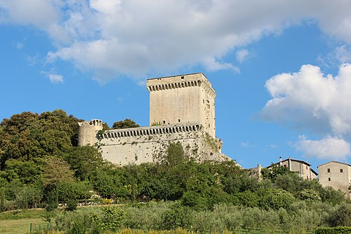 iew of the Castle Castello di Sarteano in Sarteano