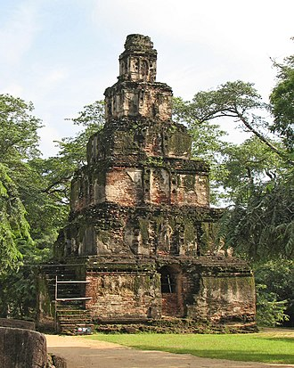 Parakramabahu I - A temple bearing a striking similarity to Cambodian architecture, reflecting the ethnically varied populace of the country