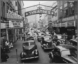 Welch, West Virginia - Saturday afternoon in Welch (1946)