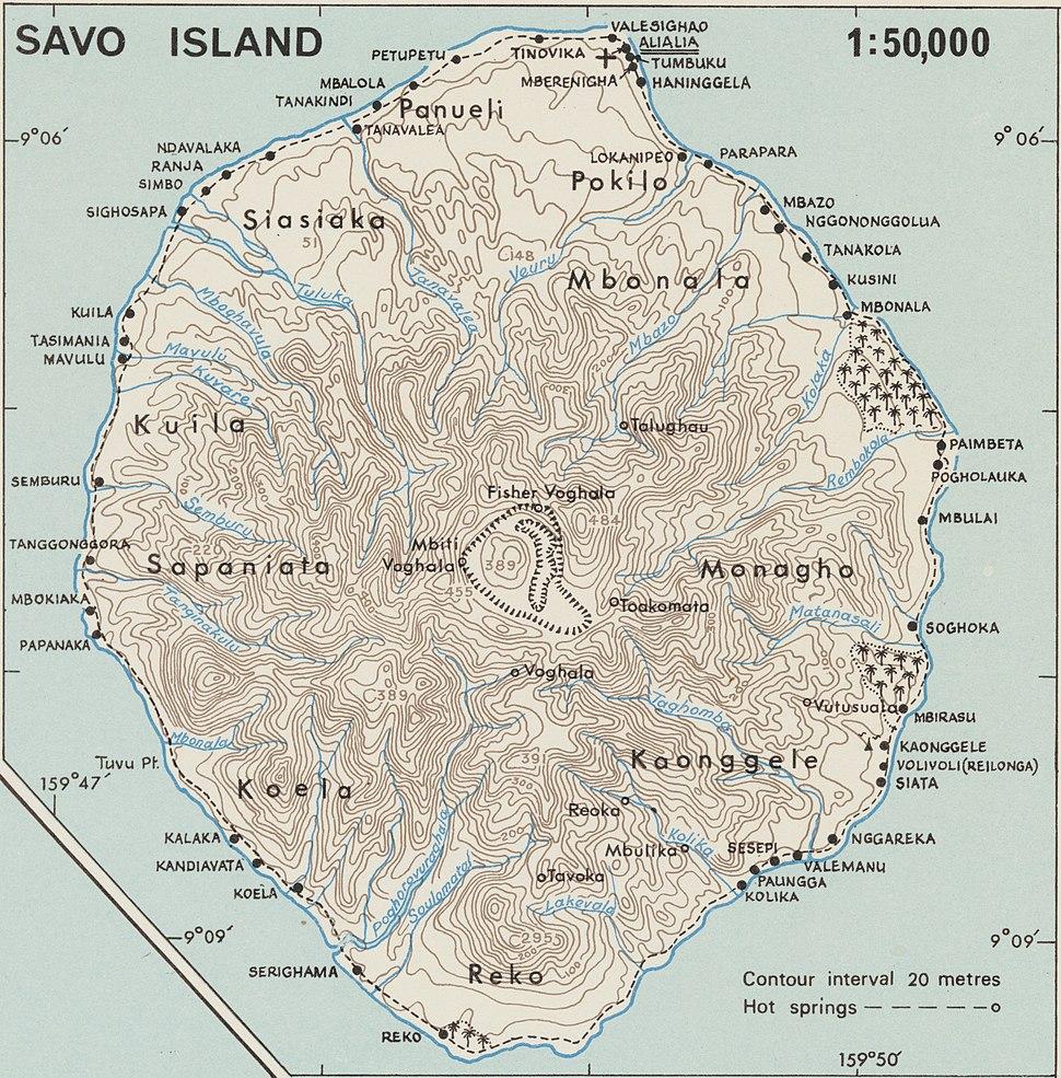 Savo 1958 topo map nla.obj-540256336 (cropped)