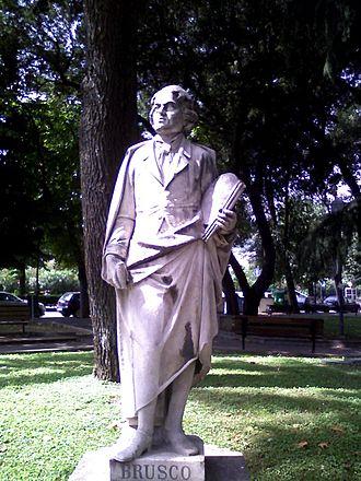 Paolo Gerolamo Brusco - Statue of Paolo Gerolamo Brusco in the public gardens of the Piazza del Popolo in Savona.