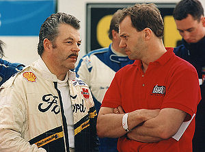 Rallycross - These two drivers wrote rallycross history: Martin Schanche (left; 6 ERC titles) and archrival Kenneth Hansen (14 ERC titles)