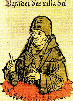 Alexander of Villedieu - Alexander der Villa Dei in the Nuremberg Chronicle from 1493