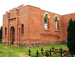 Kirchenruine von Schönfließ in der Gemeinde Lebus