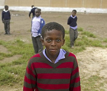 Schoolboy in a South African Township