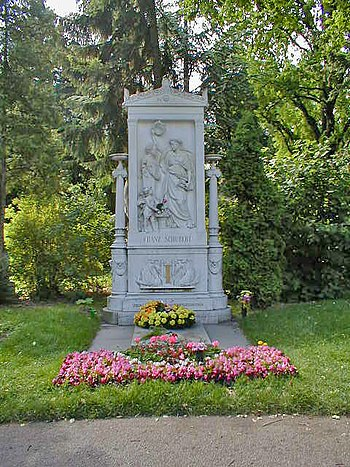 The tombstone of Franz Schubert