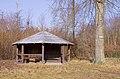 Schutzhütte im Wald zwischen Walldorf und Langen - refuge in the forest between Walldorf and Langen, Hesse, Germany - 1.jpg
