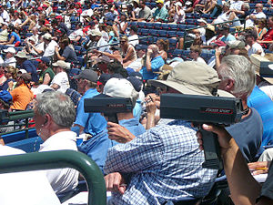 Scout (sport) - Baseball scouts at a game at Turner Field in 2008.