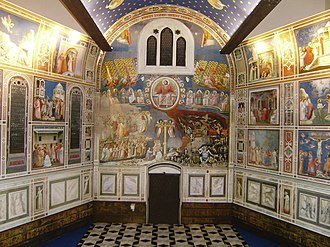 Scrovegni Chapel - Model of the interior of the chapel, towards entrance