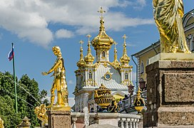 Sculptures on the Grand Cascade of Peterhof 08.jpg