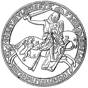 Henry de Lacy, 3rd Earl of Lincoln - Seal of Henry de Lacy, Earl of Lincoln.
