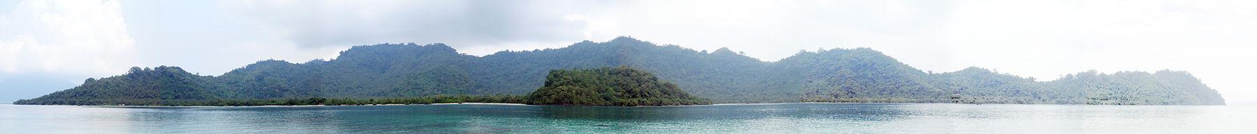 مشهد بانورامي للجزيرة