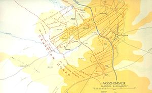 Night action of 1/2 December 1917 - Image: Second Battle of Passchendaele map Canadian sector 26 October 10 November 1917