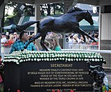 Statue of Secretariat at Belmont Park