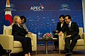 Secretary Clinton Meets With South Korean President Lee (7963173466).jpg