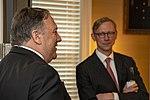 Secretary Pompeo and Senior Policy Advisor Hook at CENTCOM Reception (48085165367).jpg