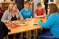 Secretary of State Karen Bradley visits the Belfast Youth Forum (42811538024).jpg