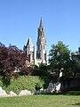 Senlis - Cathedrale vue du jardin du Roy 01.jpg