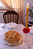 Serbian Slava Candle and Bread.jpg