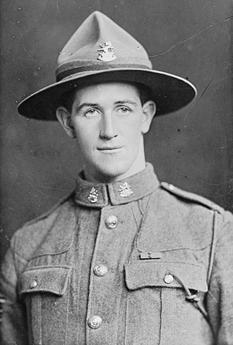 Leslie Andrew - Andrew after receiving his VC, in 1918