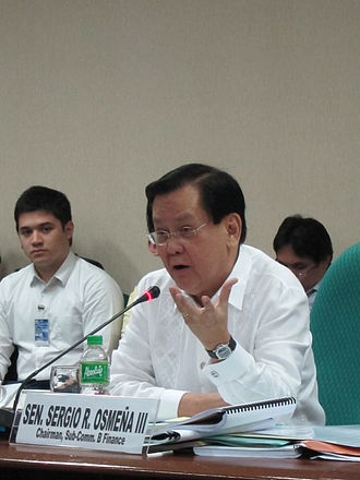 Sergio Osmeña III - Sergio Osmeña III leading a budget hearing of the Senate of the Philippines in October 2013