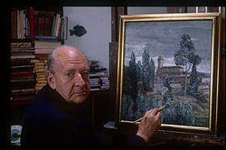 Sergio Trujillo Magnenat en su estudio 1990.jpg