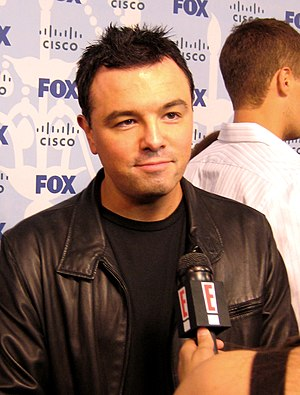 Seth MacFarlane - MacFarlane being interviewed at the Fox Fall Eco-Casino Party in Hollywood on September 8, 2008