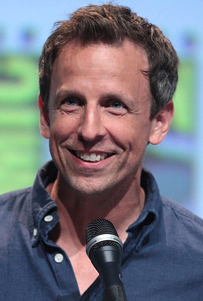 Seth Meyers, American comedian, actor, writer, political commentator, and television host