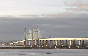 Second Severn Crossing - The Second Severn Crossing, viewed from Severn Beach