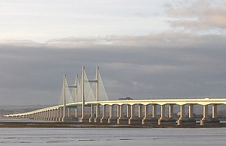 Second Severn Crossing - Second Severn Crossing, viewed from Severn Beach