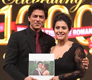 Dilwale Dulhania Le Jayenge - Image: Shah Rukh Khan & Kajol unveil the special coffee table book 'DDLJ'