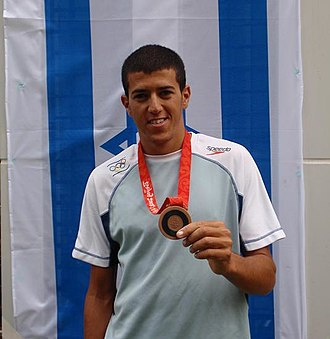 Israel at the 2008 Summer Olympics - Windsurfer Shahar Tzuberi with his bronze medal