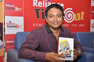Shaiju Mathew - Mathew at a book release function of Knocked Up at Reliance Timeout Store Pune on 26 September 2010