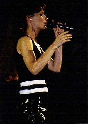 Country pop singer Shania Twain performing dur...