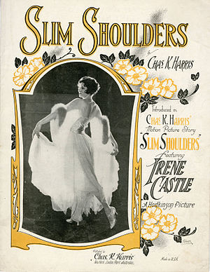 Slim Shoulders - sheet music front