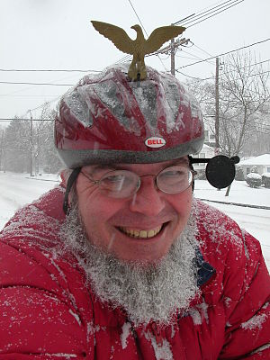 Sheldon Brown (bicycle mechanic) - Sheldon Brown, icebiking